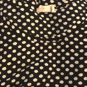 Ever Leigh short sleeved polka dot shirt. Size xl